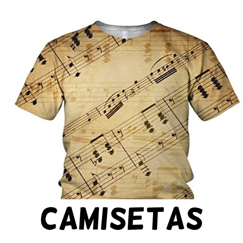 Camisetas de notas musicales