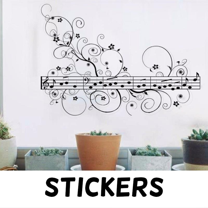 Stickers de notas musicales